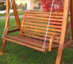 Design Bank aus Holz Lärche für Hollywoodschaukel 2-Sitzer KUREDO (ohne GESTELL!!!) - Bild 4