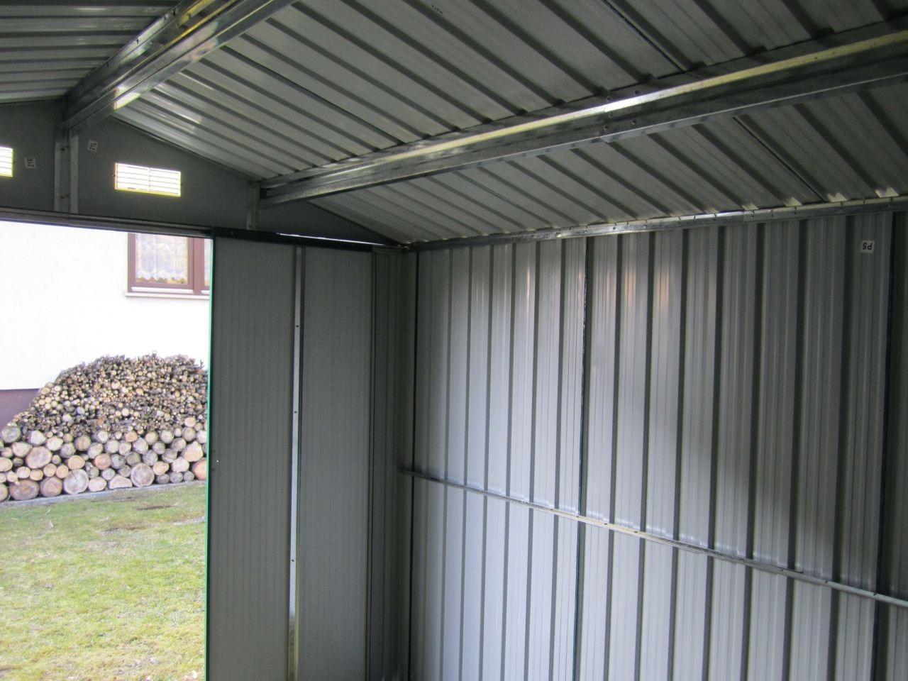 gartenhaus ger teschuppen 9m 3x3m aus verzinktem stahlblech metall gr n alles f r garten und. Black Bedroom Furniture Sets. Home Design Ideas
