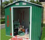 Gartenhaus Geräteschuppen 9m² 3x3m aus verzinktem Stahlblech Metall grün - Bild 7