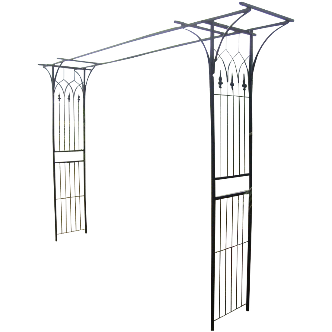 eleganter xxl rosenbogen pergola rosenbogen rankhilfe aus metall schwarz alles f r. Black Bedroom Furniture Sets. Home Design Ideas