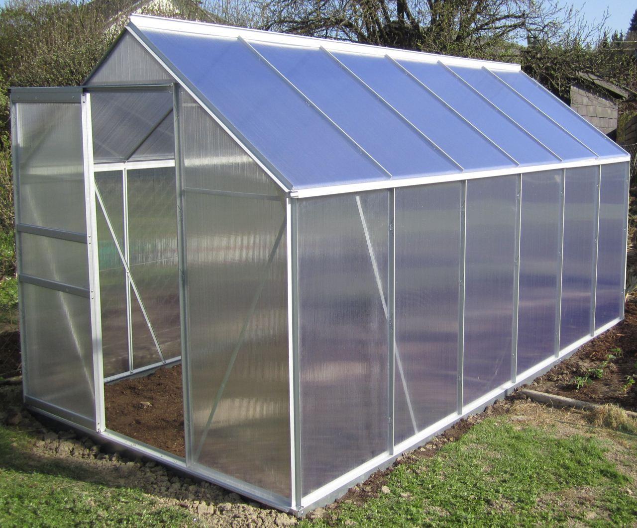 7 05m alu aluminium gew chshaus glashaus tomatenhaus 6mm hohlkammerstegplatten platten made. Black Bedroom Furniture Sets. Home Design Ideas
