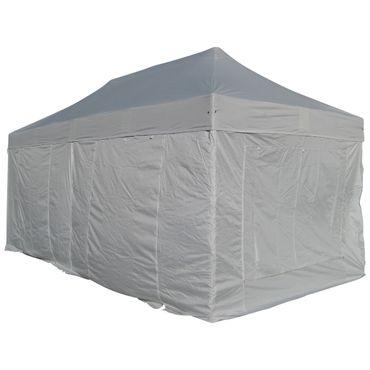 6x4m ALU Profi Faltzelt Marktzelt Marktstand Tent 40mm QUAD mit Metallgelenken und FEUERHEMMENDEN PLANEN
