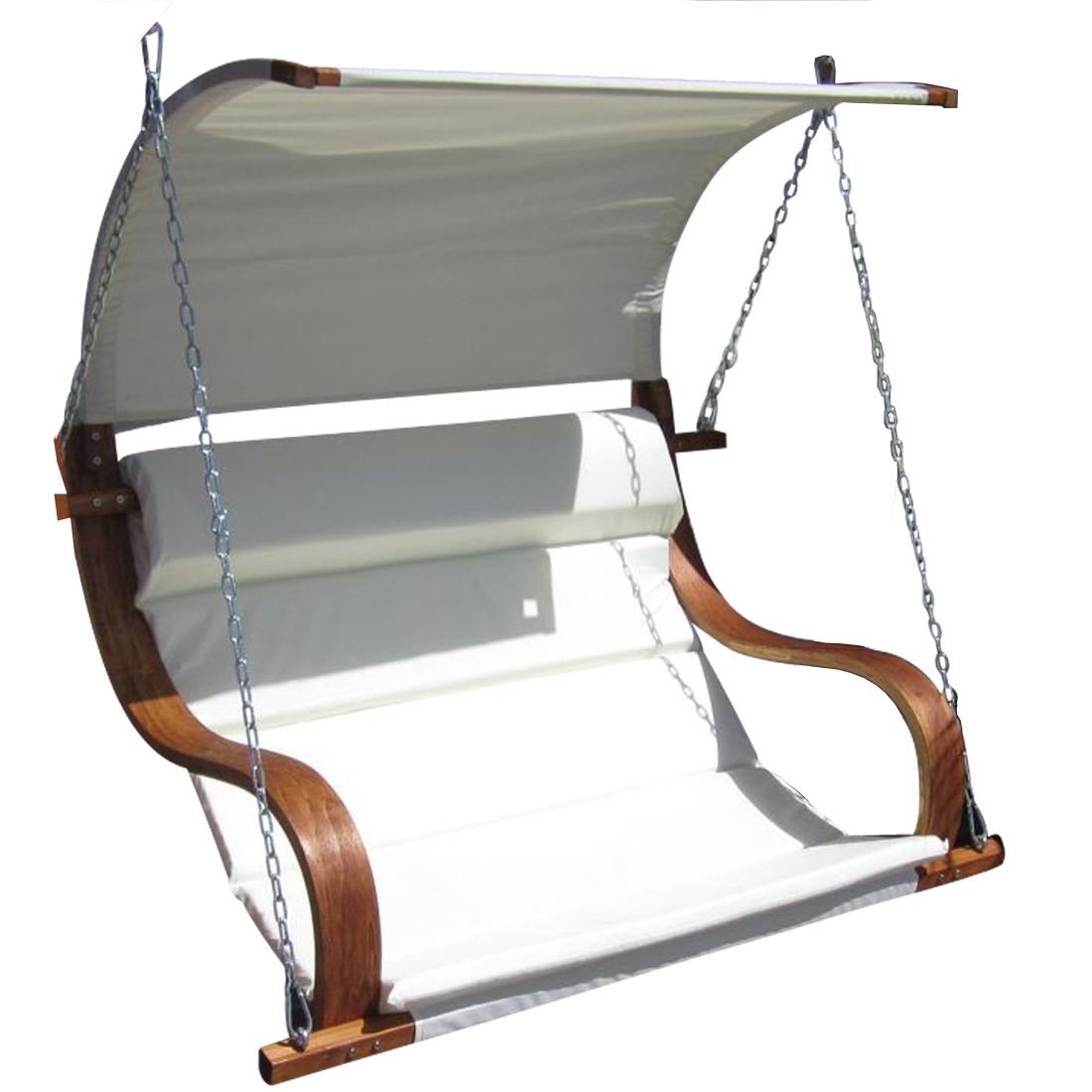 Design Sitzbank für Hollywoodschaukel SEAT-MERU aus Holz Lärche inkl ...