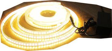 SET 5100 Lumen 10m Led Streifen 1200 LED warmweiß wasserfest IP65 inkl. Netzteil 24V Pro-Serie TÜV/GS geprüft