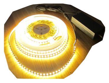 SET 2660 Lumen 5m Led Streifen 600 LED warmweiß inkl. Netzteil 24V Pro-Serie TÜV/GS geprüft