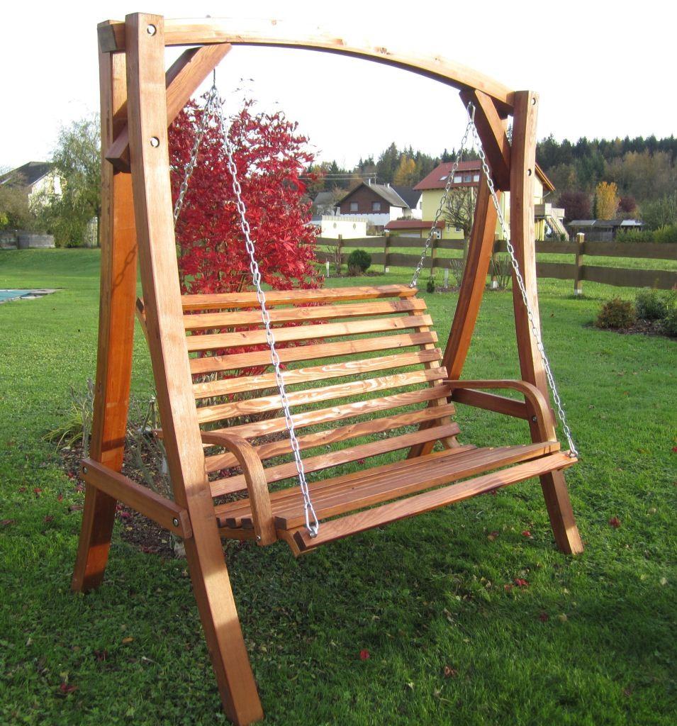 "Design Hollywoodschaukel ""KUREDO 103OD"" aus Holz Lärche ...  Design Hollywoo..."