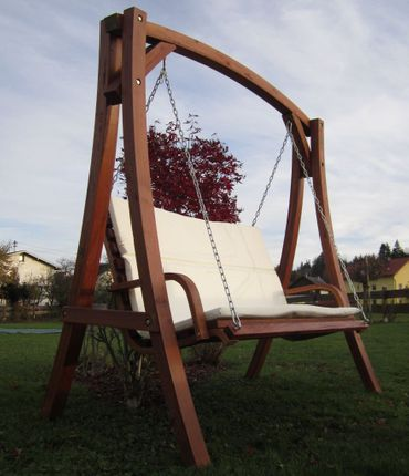 "Design Hollywoodschaukel ""KUREDO 103OD"" aus Holz Lärche – Bild 3"