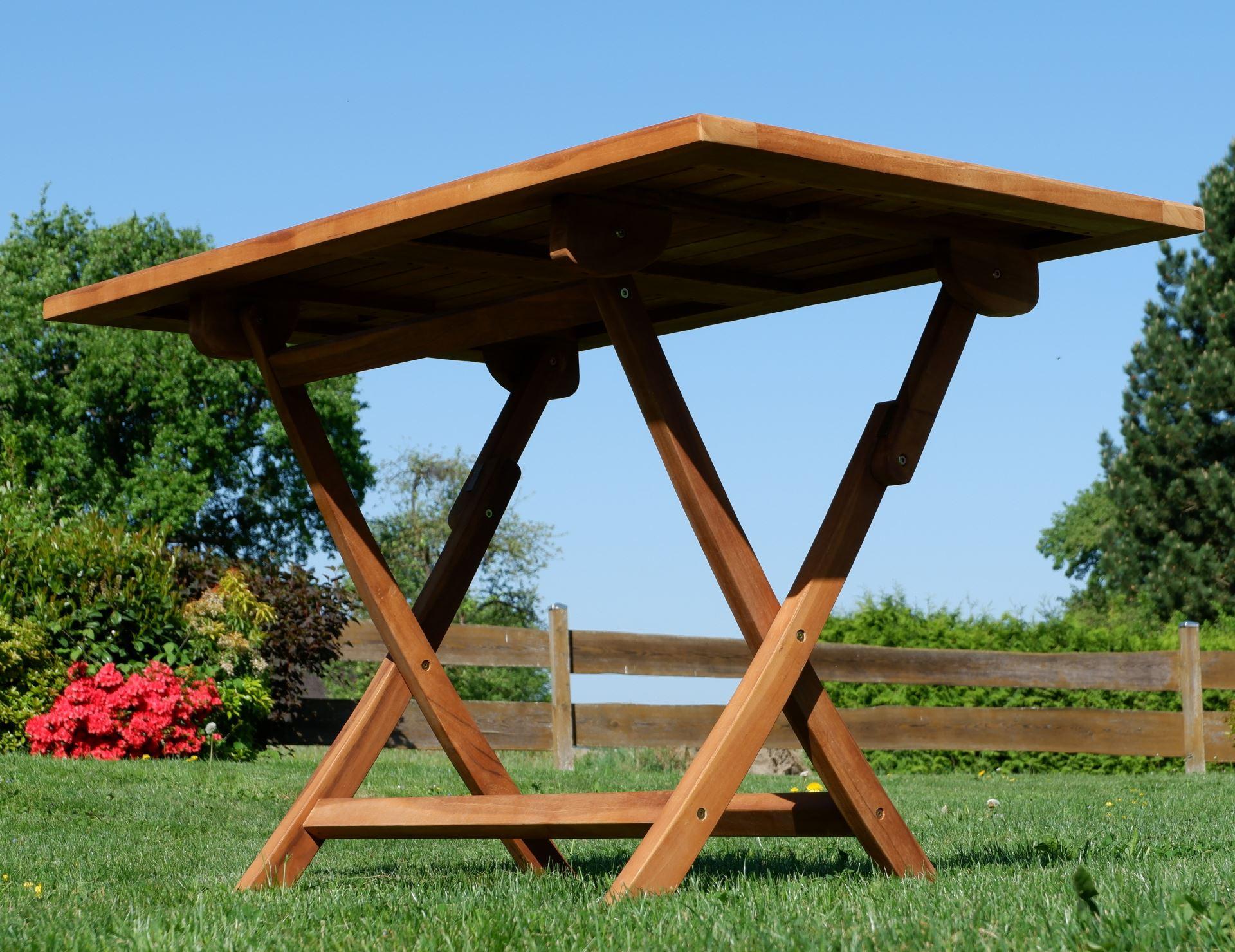Teak Gartentisch Klappbar 120x70cm Jav Aves Alles Fur Garten Und