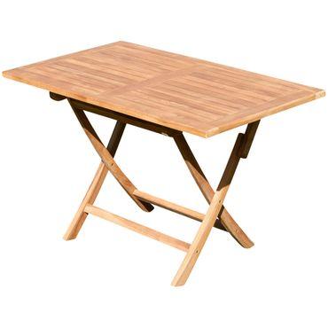 TEAK Gartentisch klappbar 120x70cm JAV-AVES