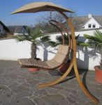 DESIGN Hängeliege NAVASSA mit Gestell aus Holz Lärche komplett mit Hängeliege und Dach - Bild 3