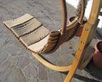 DESIGN Hängeliege NAVASSA mit Gestell aus Holz Lärche komplett mit Hängeliege und Dach - Bild 5