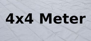 Bodenplane PVC 4 x 4 Meter grau