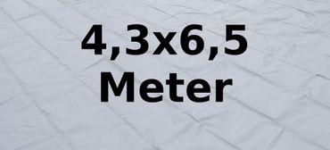 Bodenplane PVC 4,3 x 6,5 Meter grau