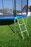Outdoor Gartentrampolin Trampolin XL - 375cm / 366cm komplett inkl. Sicherheitsnetz und Leiter TÜV geprüft mit 4 U-Form Standfüßen - Bild 6