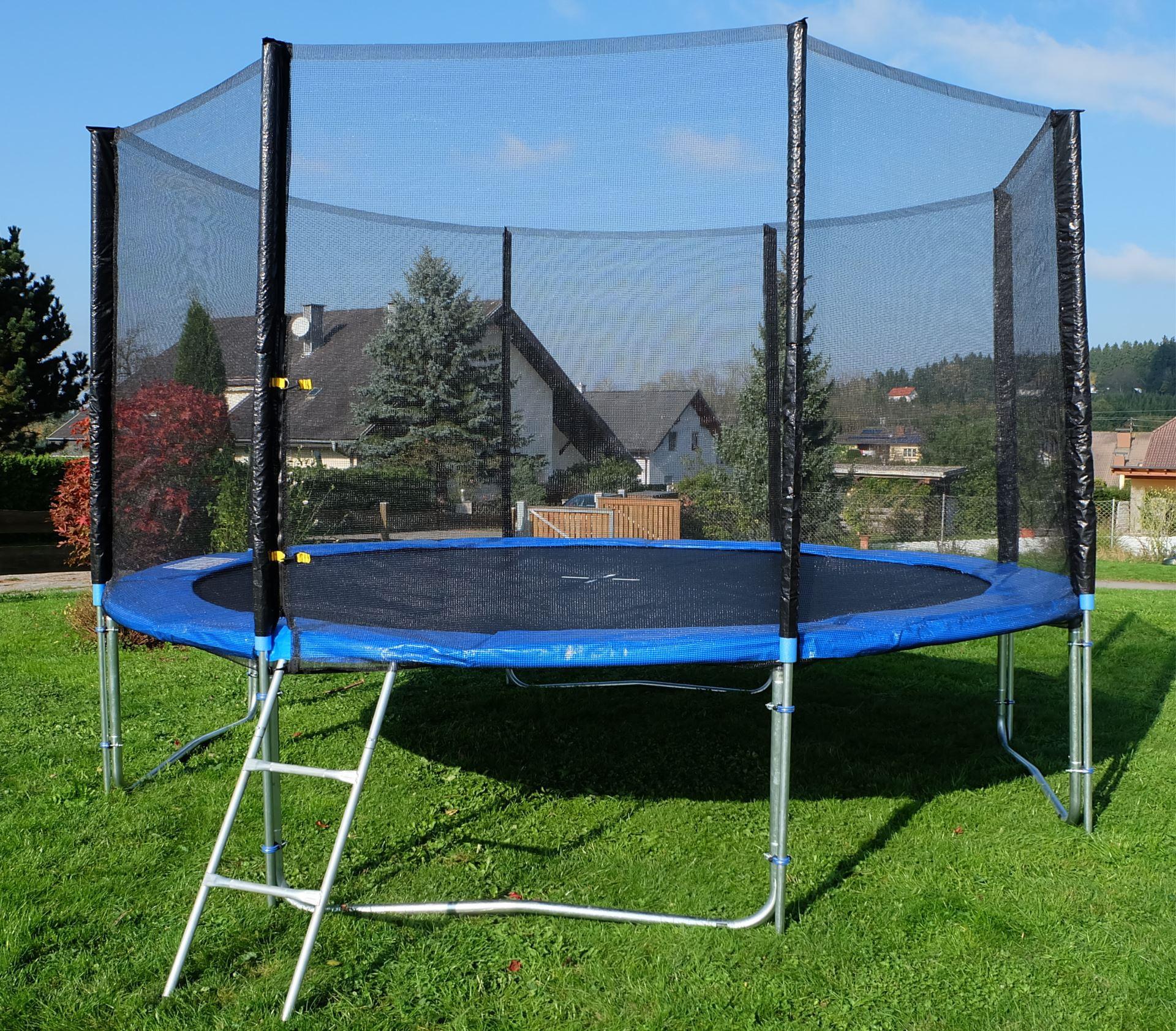 outdoor gartentrampolin trampolin xl 436cm komplett inkl. Black Bedroom Furniture Sets. Home Design Ideas