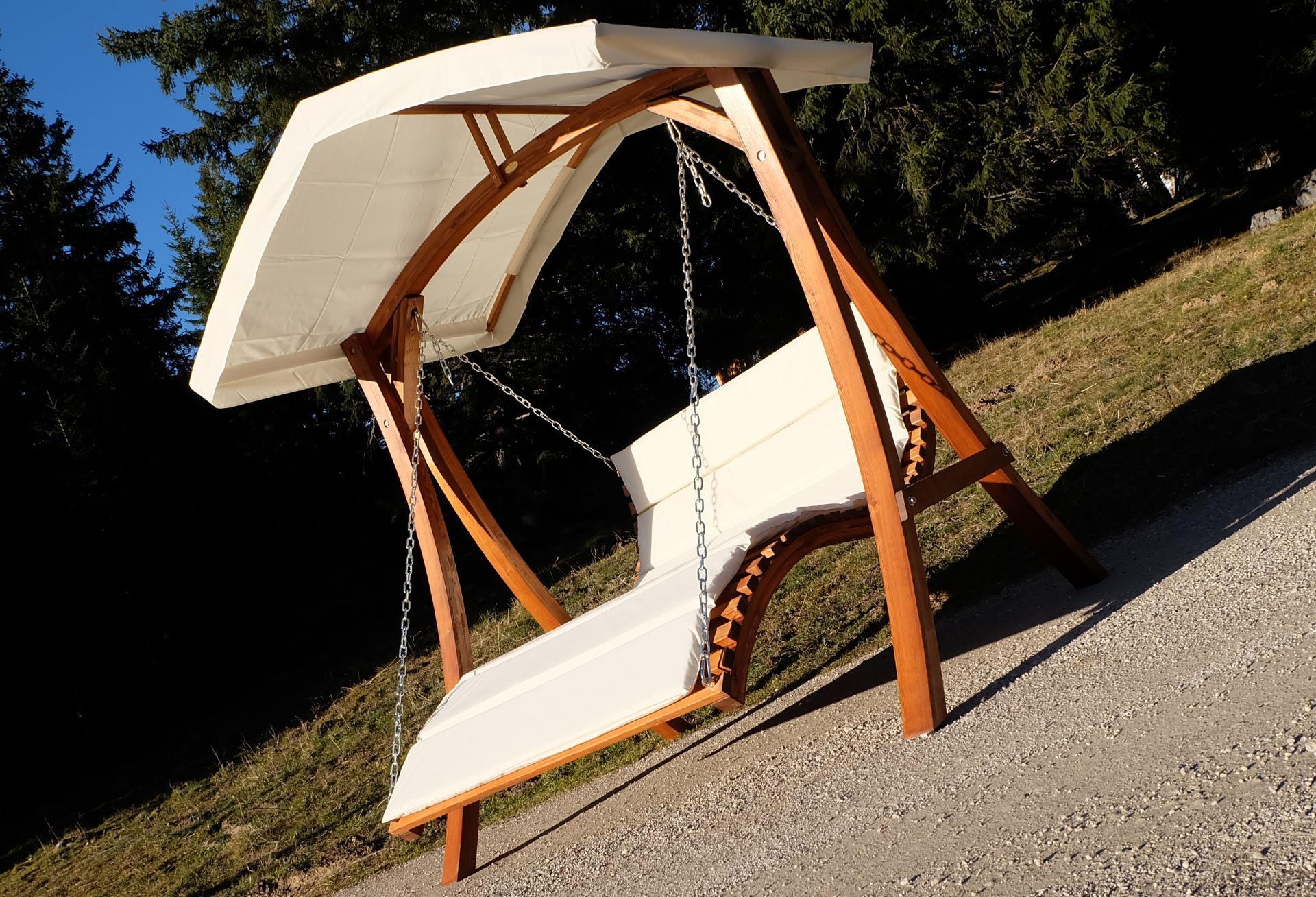 design hollywoodliege doppelliege aruba aus holz l rche. Black Bedroom Furniture Sets. Home Design Ideas