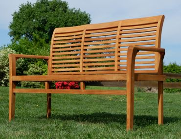TEAK 3-Sitzer Gartenbank 150cm JAV-ALPEN – Bild 4