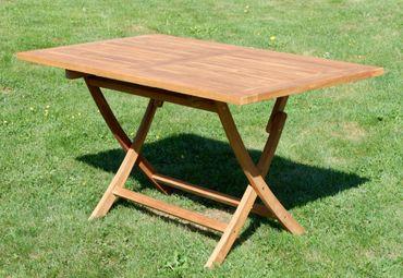 TEAK Klapptisch 140x80cm JAV-AVES-XXL Holz Serie JAV – Bild 3