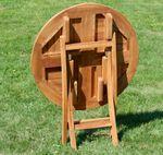 ECHT TEAK Gartentisch Klapptisch Holztisch Gartentisch Tisch rund 80cm JAV-COAMO - Bild 7
