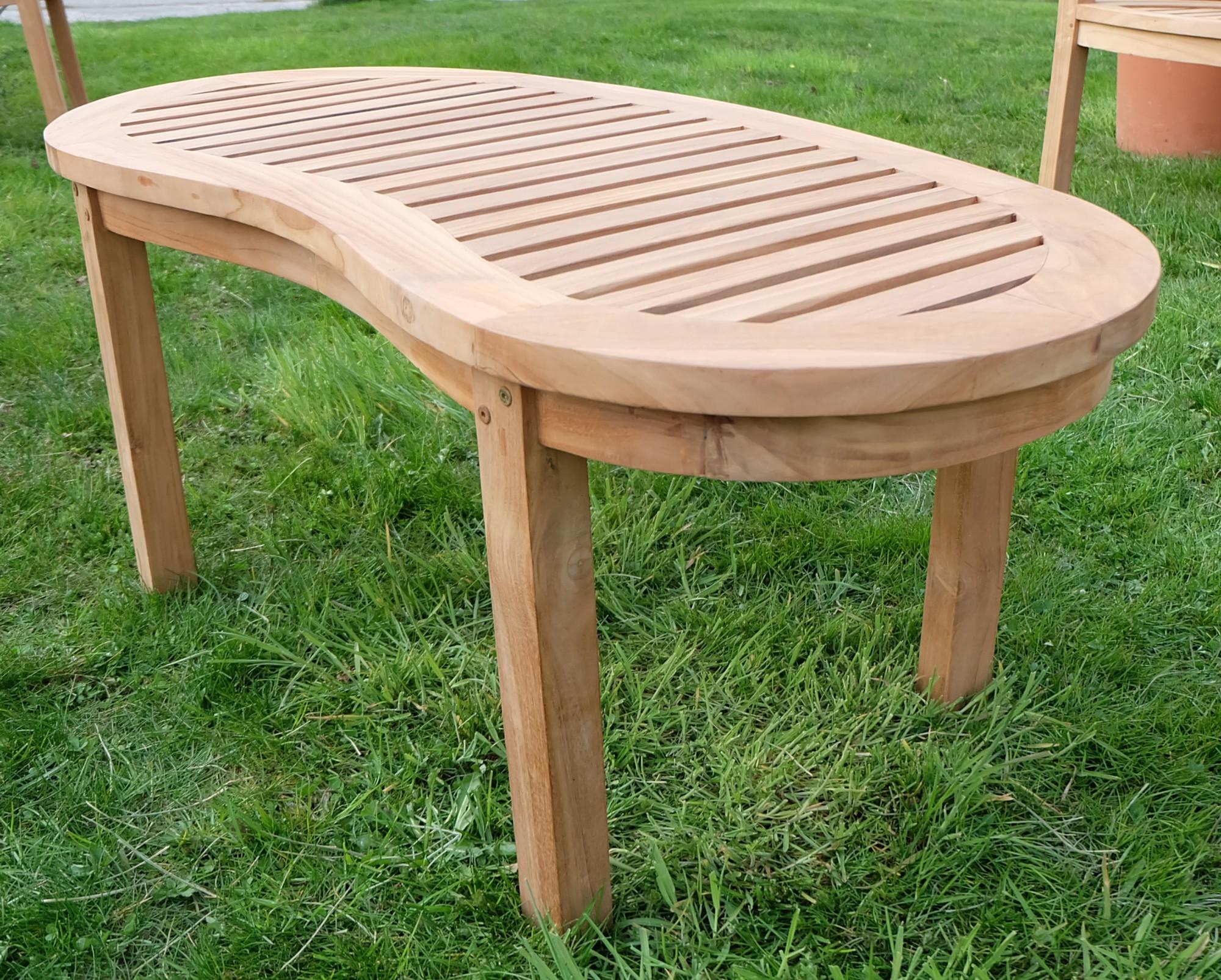 echt teak sofa tisch holztisch gartentisch kaffeetisch 110x50cm coco ge lt holz ebay. Black Bedroom Furniture Sets. Home Design Ideas
