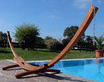 410cm XXL Luxus Hängemattengestell LIMITED EDITION aus Holz Lärche ohne Hängematte (EDELSTAHL) - Bild 5