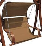 Design Sitzbank für Hollywoodschaukel aus Holz Lärche inkl. Dach MERU BRAUN (ohne Gestell!!) - Bild 1