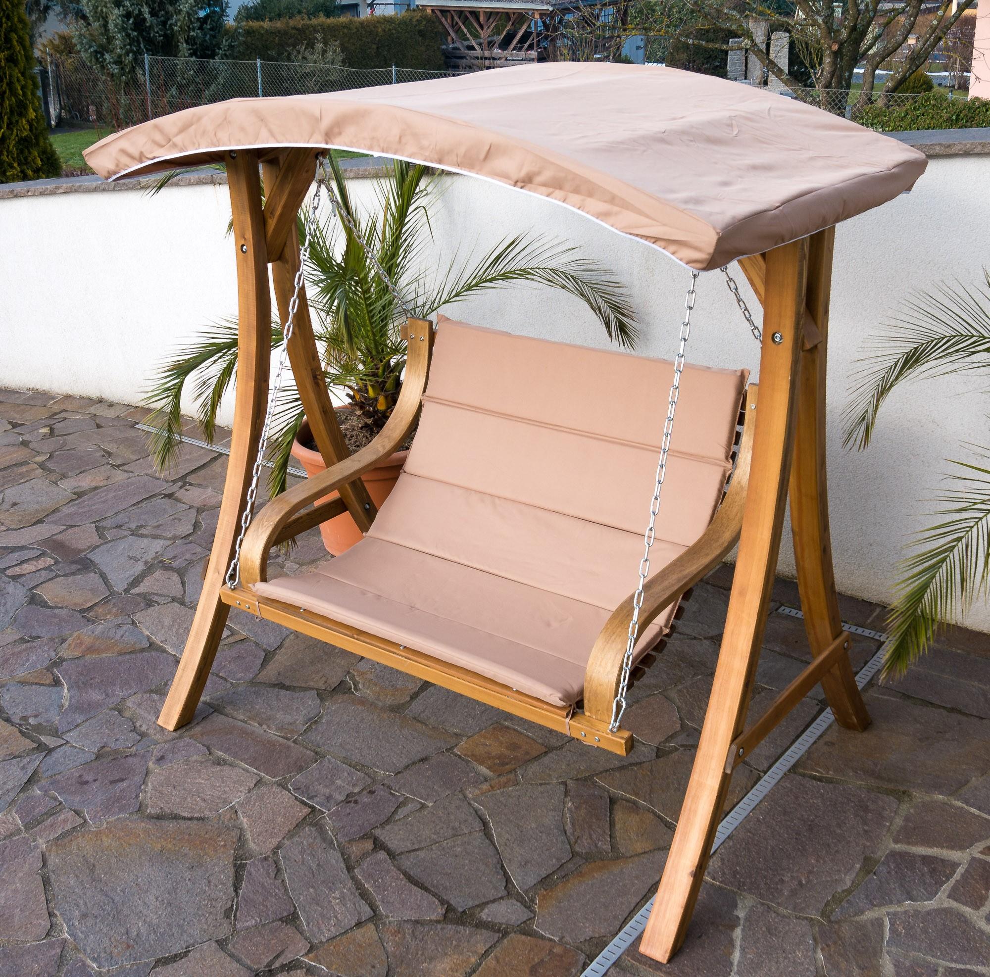 design hollywoodschaukel belize aus holz lärche mit dach modell, Moderne