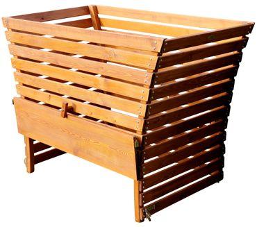 Großer Holz Komposter 1140 Liter Volumen extrem Stablil aus Lärche 145x80cm