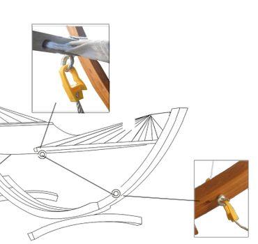 Sicherung für alle unsere Hängemattengestelle mit 4 Meter und mehr