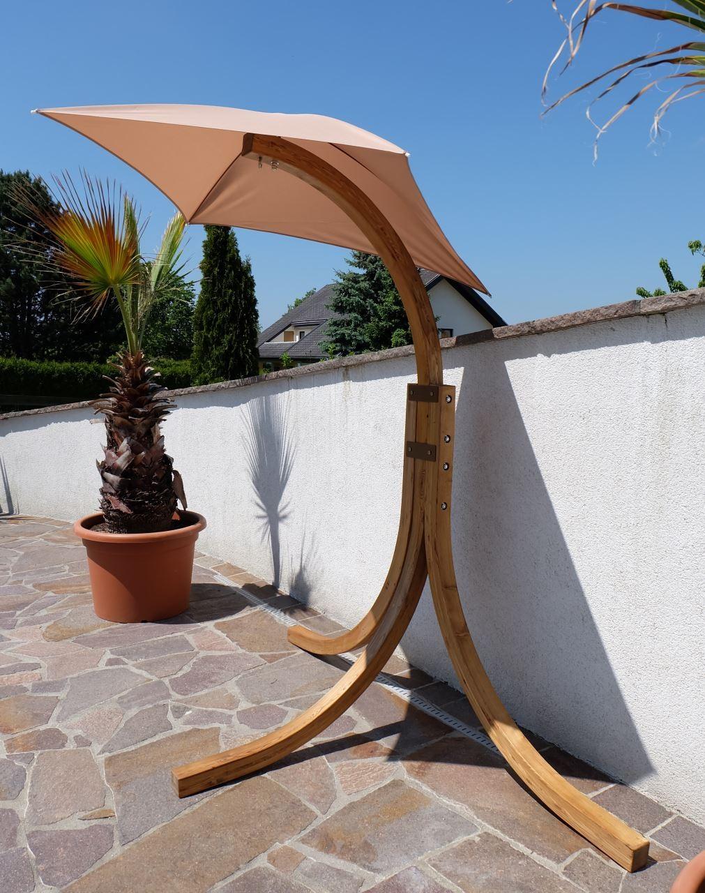 design h ngesesselgestell navassa aus holz l rche ohne sessel alles f r garten und terrasse. Black Bedroom Furniture Sets. Home Design Ideas