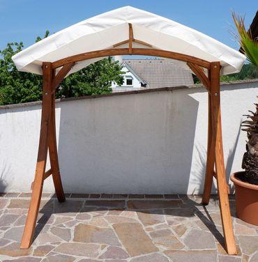 "Design Hollywoodschaukel Gestell ""KUREDO / ARUBA"" aus Holz Lärche mit Dach – Bild 2"