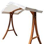 "Design Hollywoodschaukel Gestell ""KUREDO / ARUBA"" aus Holz Lärche mit Dach"