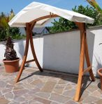 "Design Hollywoodschaukel Gestell ""KUREDO / ARUBA"" aus Holz Lärche mit Dach - Bild 4"