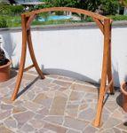 "Design Hollywoodschaukel Gestell ""KUREDO / ARUBA"" aus Holz Lärche mit Dach - Bild 7"