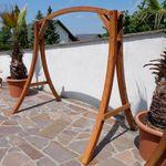 "Design Hollywoodschaukel Gestell ""KUREDO / ARUBA"" aus Holz Lärche mit Dach - Bild 8"