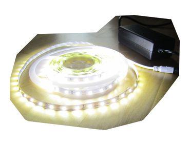 SET 6250 Lumen 5m Ultra Highpower Led Streifen mit 300 2835 LED's neutralweiß natur weiss naturweiß superhell inkl. Netzteil 24V (Pro-Serie) TÜV/GS geprüft – Bild 1
