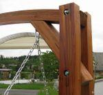 Design Hollywoodschaukel MERU HM101 aus Holz Lärche inkl. Abdeckung - Bild 9