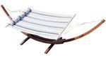 410cm XXL Luxus Hängemattengestell LIMITED EDITION G aus Holz Lärche mit Stab Hängematte (EDELSTAHL - GEPOLSTERT)