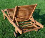 Hochwertige TEAK Sonnenliege Gartenliege Strandliege Liegestuhl Holzliege Holz sehr robust Modell: COZY+ Beistelltisch 45x45cm - Bild 8