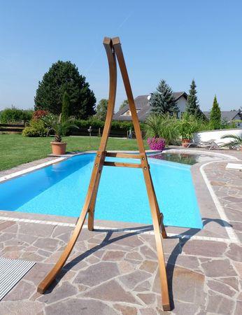 Hängesesselgestell aus Holz Lärche (Gestell ohne Sessel) Modell Catalina-WA – Bild 4