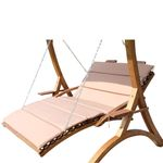 "Design Hollywoodliege ""MACAO-LOUNGER"" aus Holz Lärche (OHNEGestell) 001"