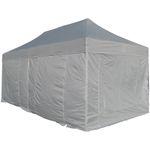 8x4m ALU Profi Faltzelt Marktzelt Marktstand Tent 40mm Quad mit Metallgelenken und PLANEN FEUERHEMMENDEN