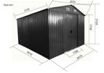 """Gartenhaus Geräteschuppen 8m² 2,57x3,12m 2,5x3m aus verzinktem Stahlblech Metall grau """"mit großer Türe"""" - Bild 3"""