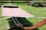 410cm XXL Luxus Hängemattengestell FILLED EDITION COFFEE aus Holz Lärche mit Stab Hängematte (GEPOLSTERT) - Bild 4