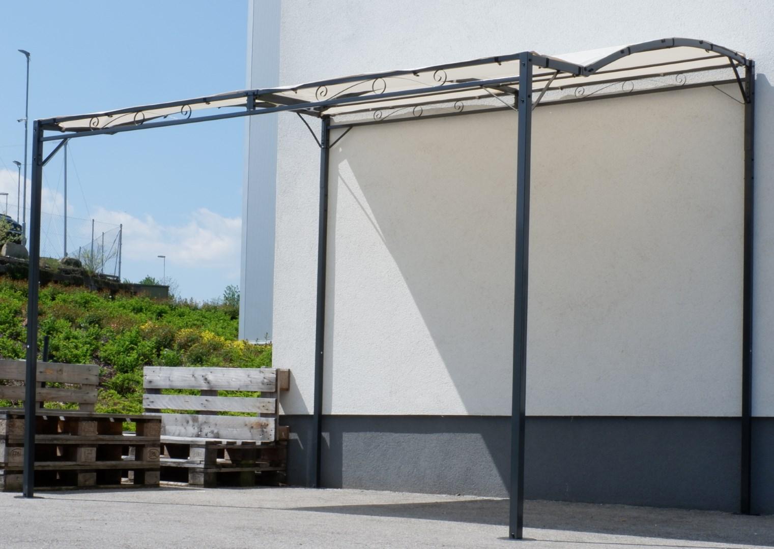 wand anbau pavillon 3 x 2 5 meter mit dach 100 wasserdicht uv30 model topea alles f r garten