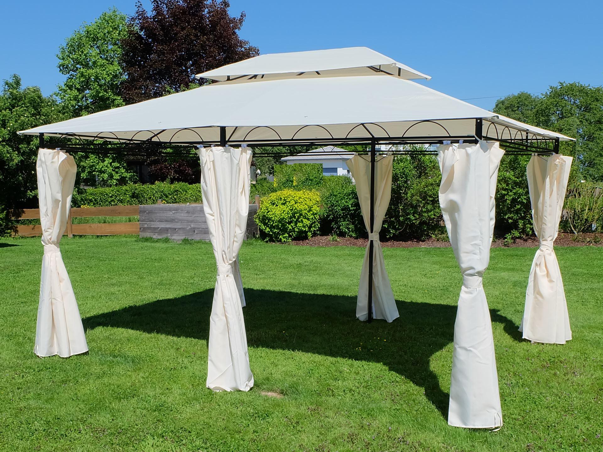 Berühmt Eleganter Garten - Pavillon 3x4 Meter, Dach 100% WASSERDICHT UV30+ #XK_48