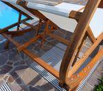 Doppel - Sonnenliege TULUM extrabreit für 2 Personen mit verstellbarem Dach aus Holz Lärche - Bild 3