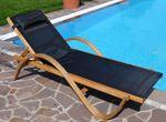 Sonnenliege PARAISO aus Holz Lärche mit Kopfpolster - Bild 9