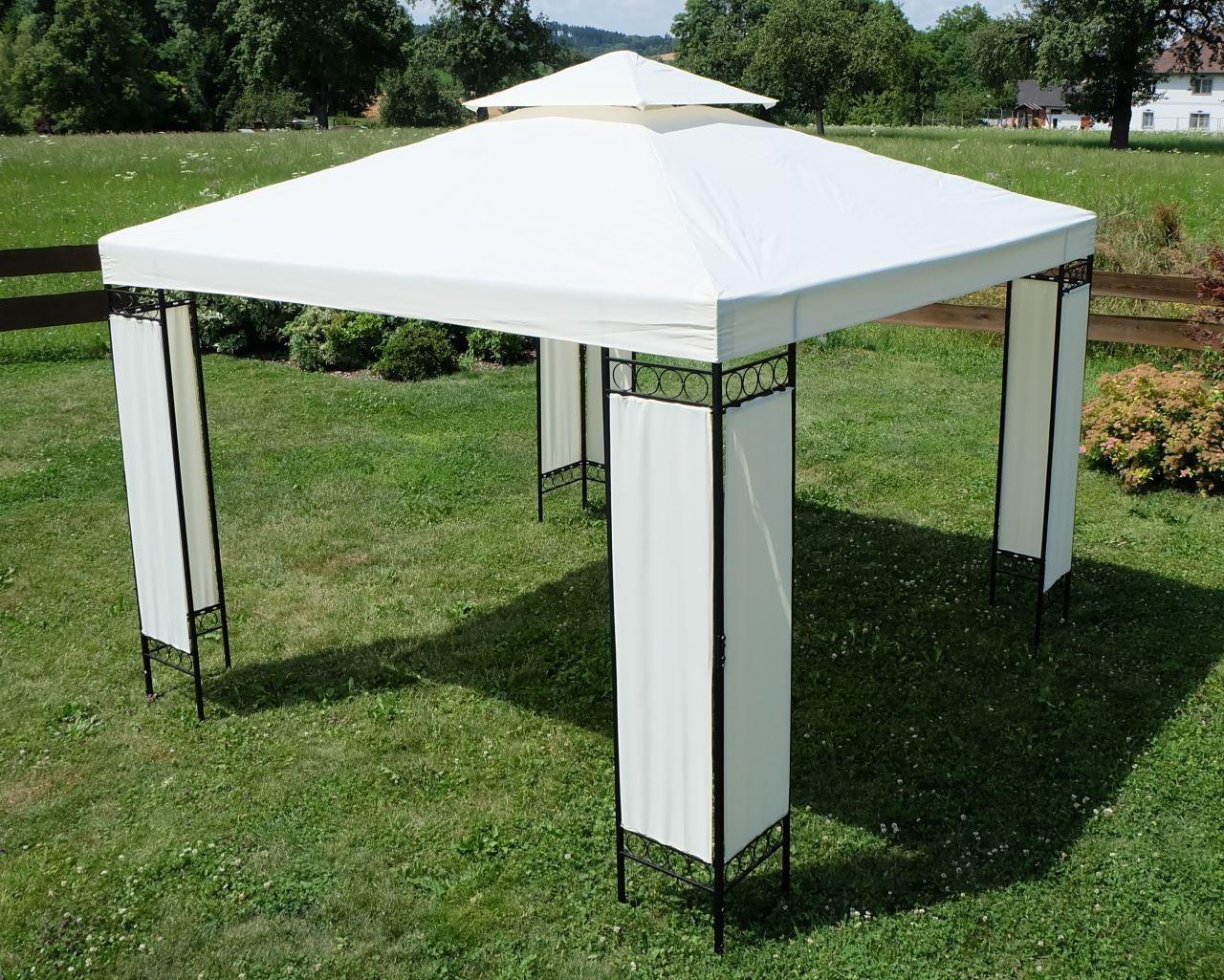 eleganter gartenpavillon pavillon 3x3 meter dach 100. Black Bedroom Furniture Sets. Home Design Ideas