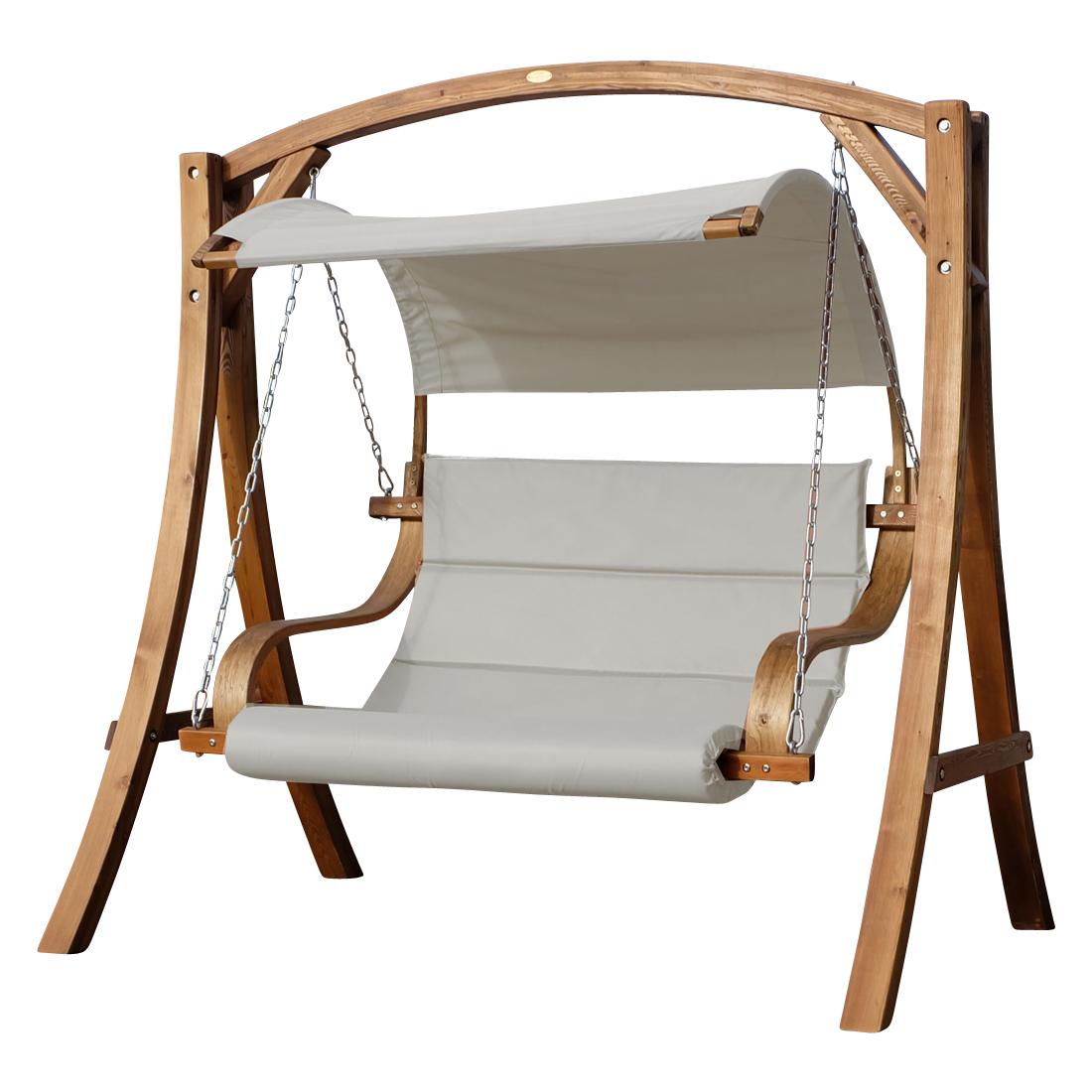 Design Hollywoodschaukel Antigua Beige Aus Holz Lärche Alles Für